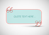 Quote template made from one continuous thin line, with place for your quotation