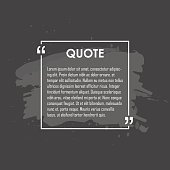 Quote text bubble. Commas, note, message and comment Design element