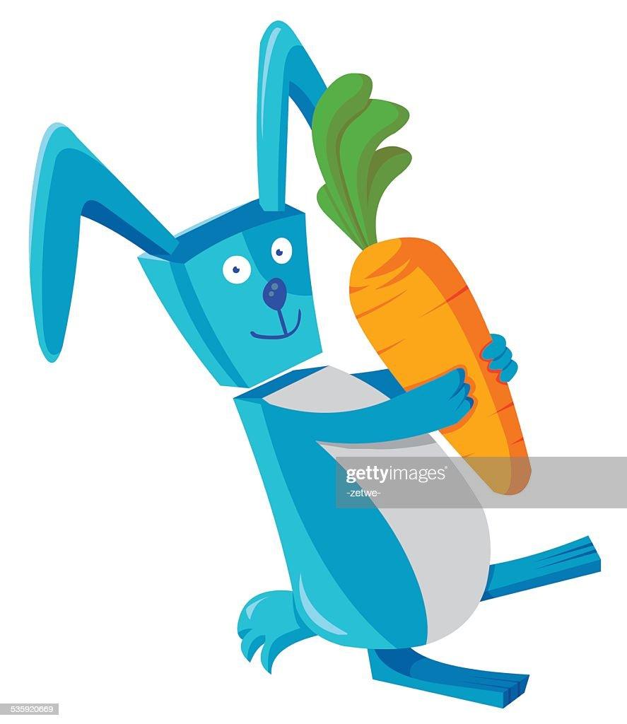 rabbit and carrot : Vector Art