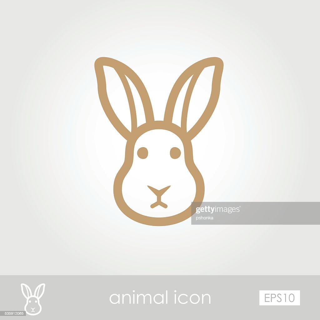 Ícone de coelho : Arte vetorial