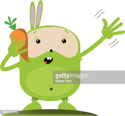 Rabbit talking on cell phone : Vector Art