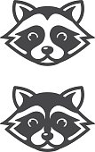 Raccoon head icons