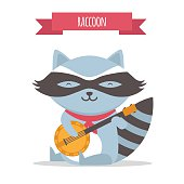 raccoon plays banjo