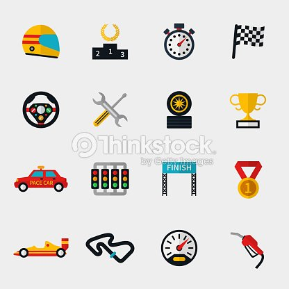piste de course automobile et course ic nes plat moderne drapeau clipart vectoriel thinkstock. Black Bedroom Furniture Sets. Home Design Ideas