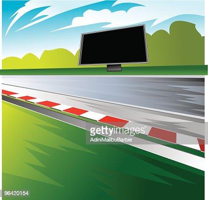 Racetrack : Vector Art