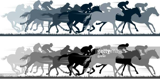 Horse Racing Stock Illustrations And Cartoons