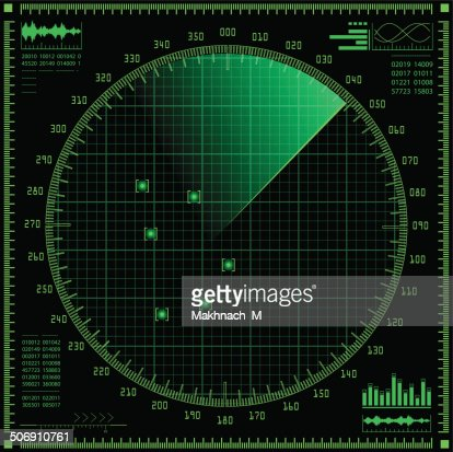 Radar screen : stock vector