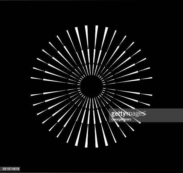Radiale symmetrische Platzen Design-Element