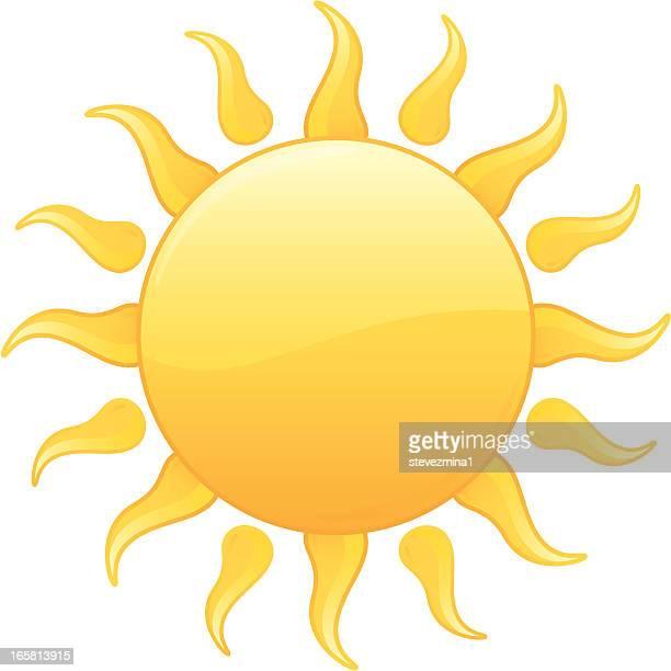 Jaune éclat de soleil Vector Illustration