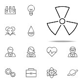 radiation icon. Scientifics study icons universal set for web and mobile on white background