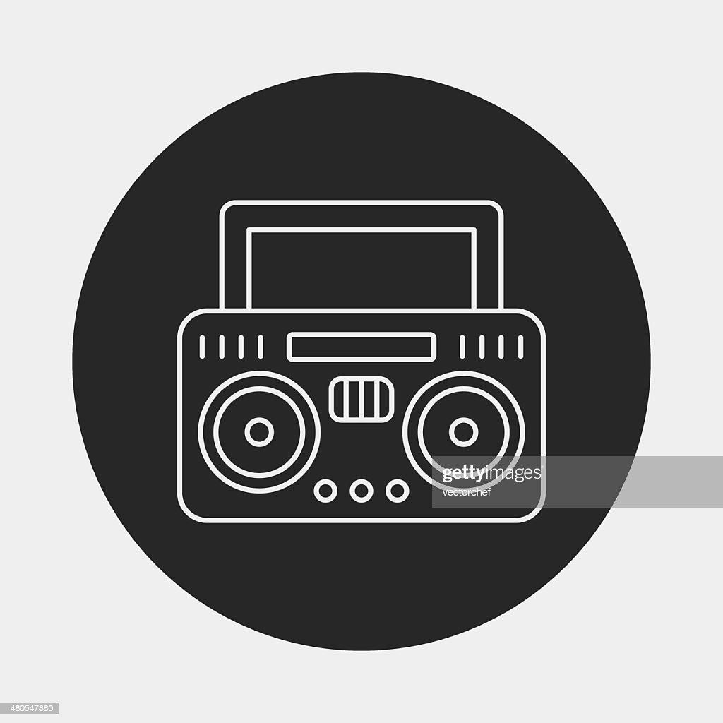 Icono de radio : Arte vectorial