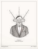 Radio waves glasses.Vector