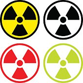 Radioactive symbol in flat design.