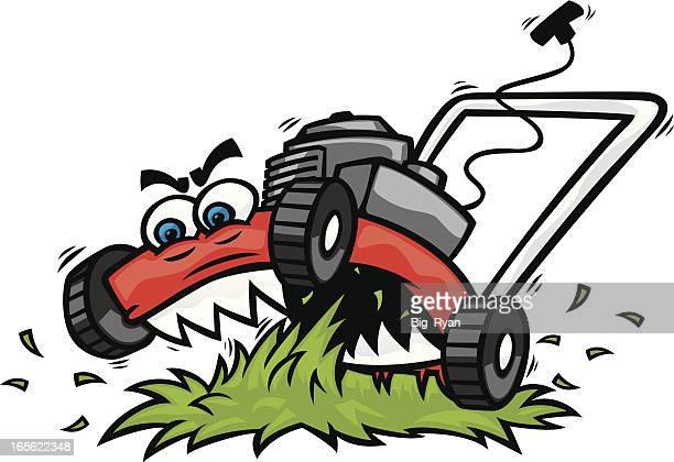 free cartoon lawn mower clipart - photo #25