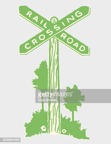 Railroad Crossing Sign : Vector Art