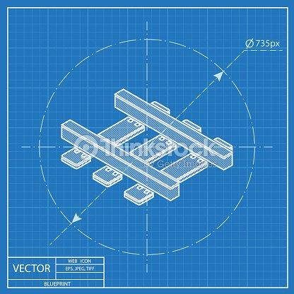 Railroad isometric 3d blueprint icon vector art thinkstock railroad isometric 3d blueprint icon vector art malvernweather Choice Image