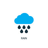 Rain icon. icon element illustration. Rain symbol design from 2 colored collection. Simple Rain concept. Can be used in web and mobile.