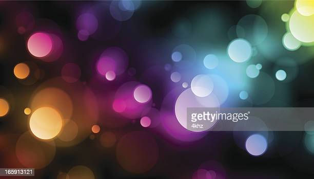Rainbow Bokeh Lights Vector Background
