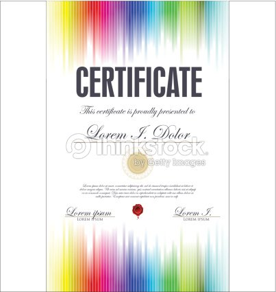 Rainbow Certificate Template On White Background Vector Art Thinkstock