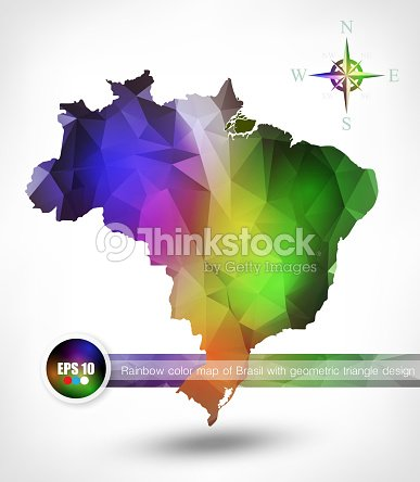 Rainbow color map of brasil with geometric triangle design vector rainbow color map of brasil with geometric triangle design vector art gumiabroncs Gallery