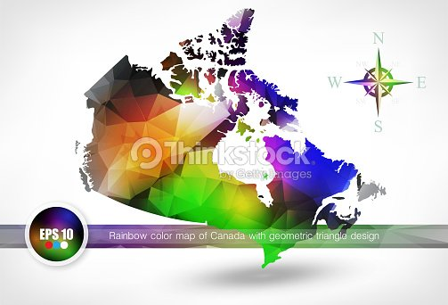 Rainbow color map of canada with geometric triangle design vector rainbow color map of canada with geometric triangle design vector art gumiabroncs Image collections