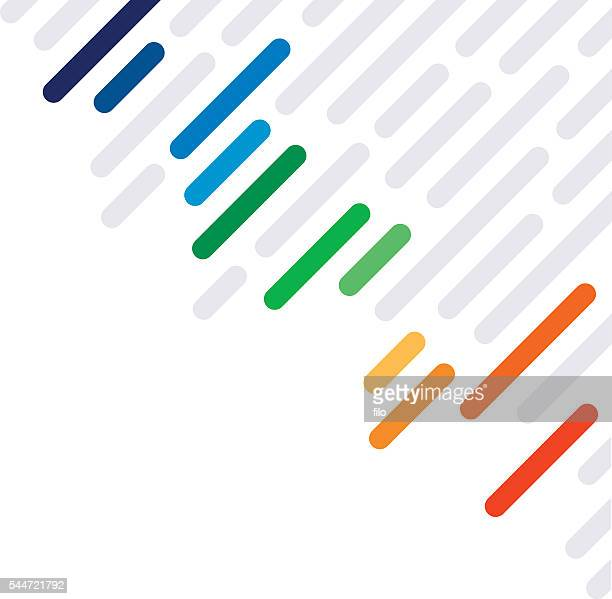 Rainbow Dash Abstract Lines Background Pattern