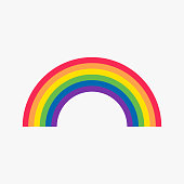 Rainbow icon, vector illustration isolated on white background