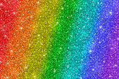 Multicolor glitter background, rainbow colors, diagonal stripes