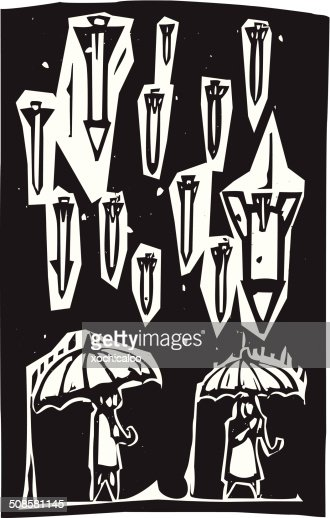 Raining Missiles : Vector Art