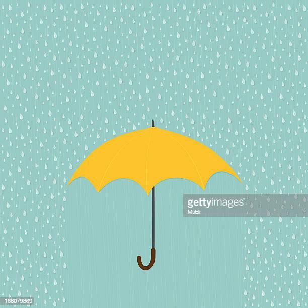 Día de lluvia con sombrilla