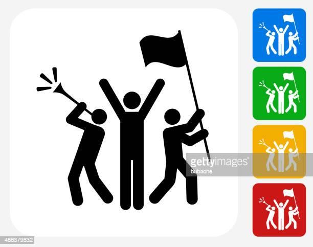 Rally Feier Symbol flache Grafik Design