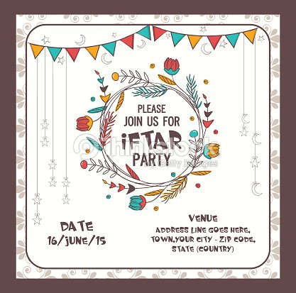 Ramadan kareem iftar party celebration invitation card vector art ramadan kareem iftar party celebration invitation card vector art stopboris Image collections
