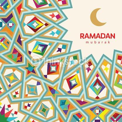 Ramadan mubarak beautiful greeting card background with crescent ramadan mubarak beautiful greeting card background with crescent moon and traditional morocco pattern vector m4hsunfo