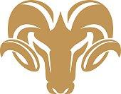 rams head animal vector