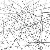 Random chaotic strip lines diagonally, abstract geometric background pattern. Vector modern pop art illustration, Brownian movement