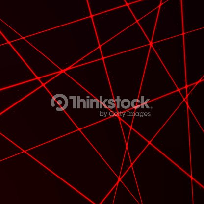 Random Laser Mesh. Security red beams. Vector illustration isolated on dark background : stock vector