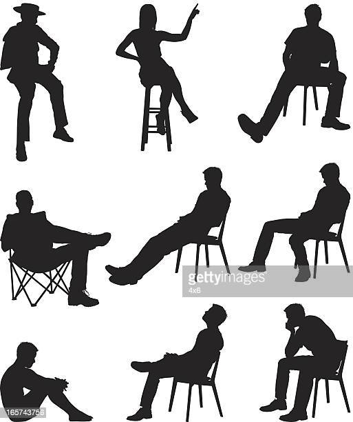 Random people sitting