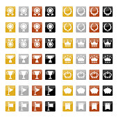 Sets of rectangle ranking icons.