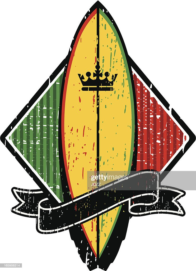 rasta surf king : Vector Art