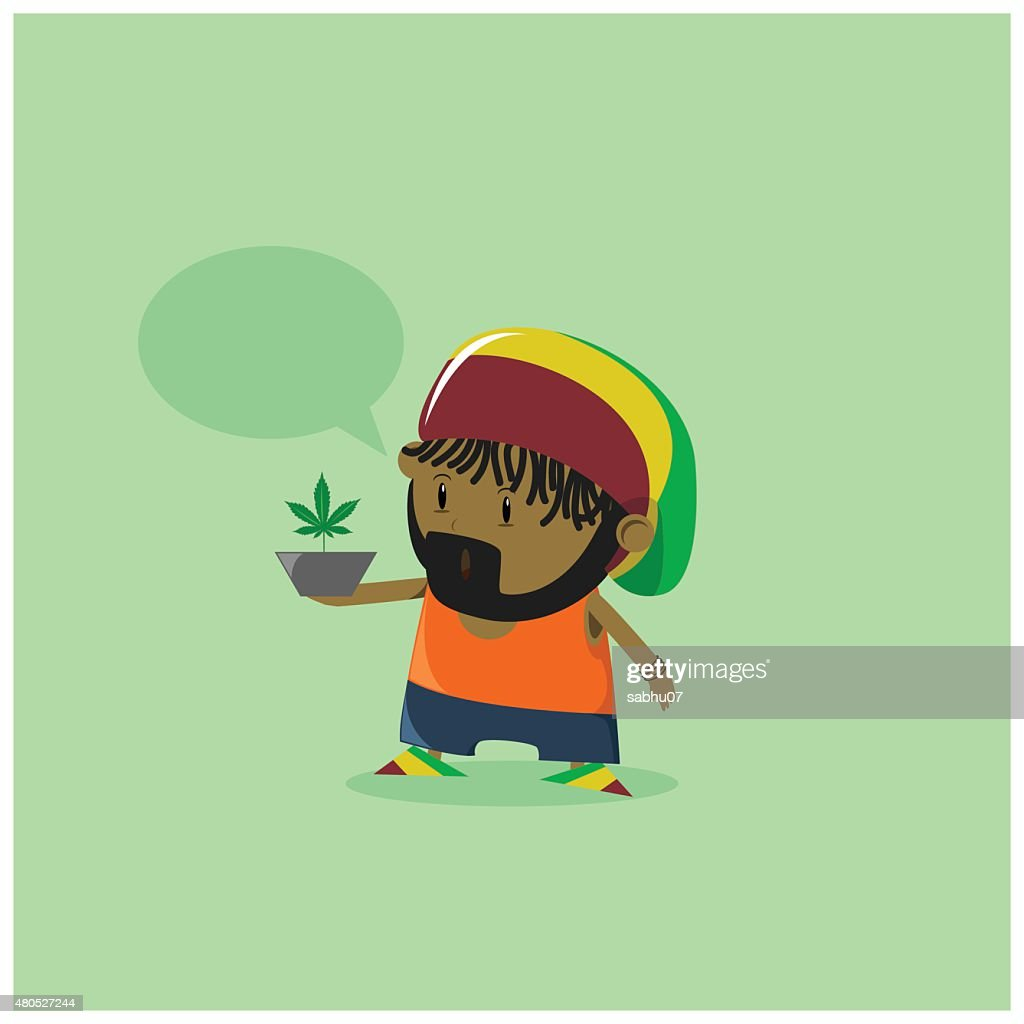 Rastaman Cartoon : Vector Art