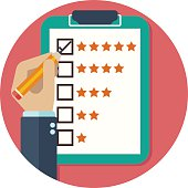 Rating on customer service vector illustration design.