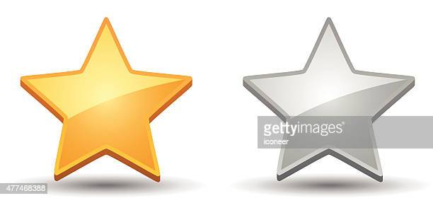Rating Star Icons on white background