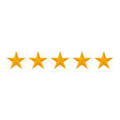 rating stars isolated on white background