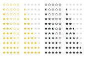 set of five rating stars vector design element