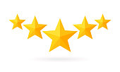 Five star rating illustration.