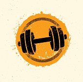 Workout and Fitness Equipment Vector Design Sign Illustration