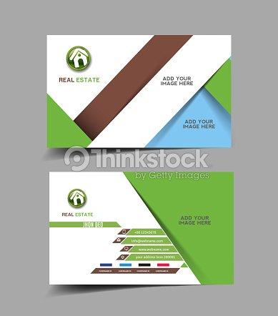 Agent Immobilier Carte De Visite Clipart Vectoriel