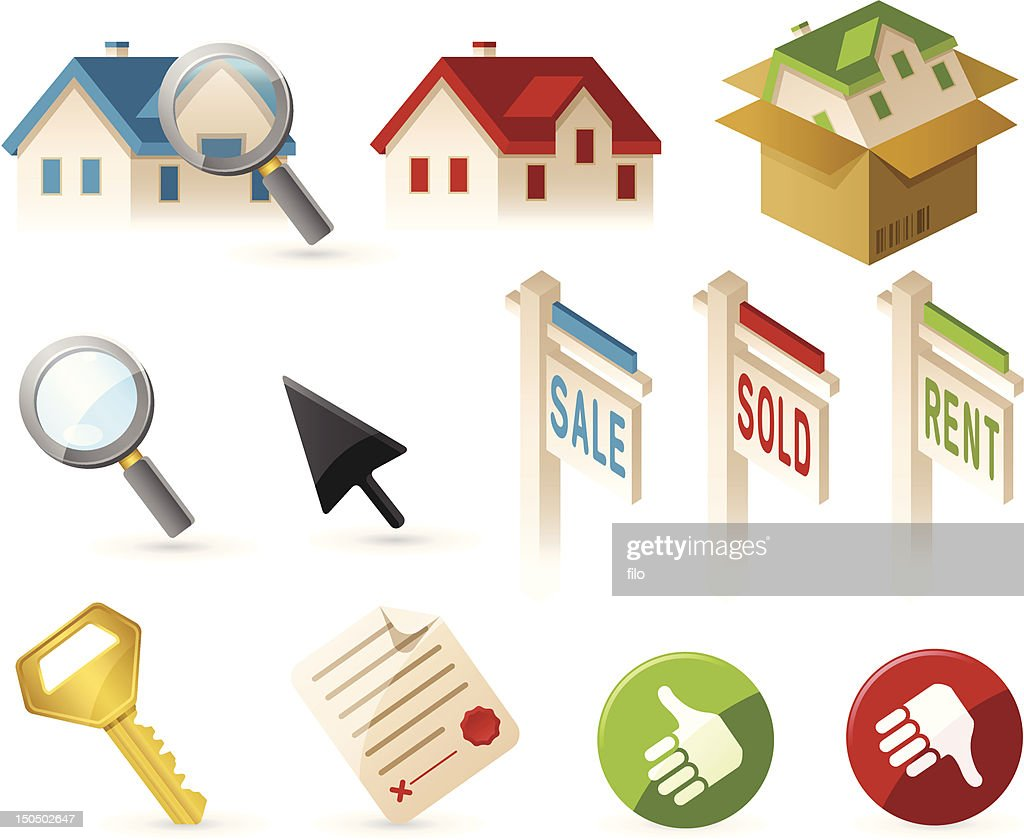 Real Estate and Home Elements : Vector Art