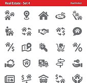 Professional, pixel perfect icons depicting various real estate concepts.
