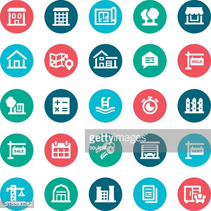 Furniture icons vector art getty images - Real Estate Icons Vector Art Getty Images